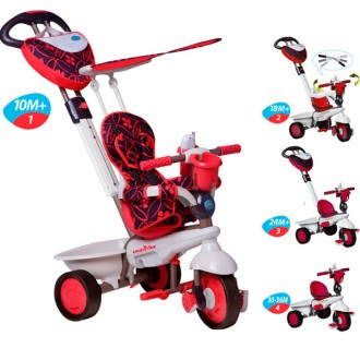 Triciclo Dream Team red evolutivo 4-en-1
