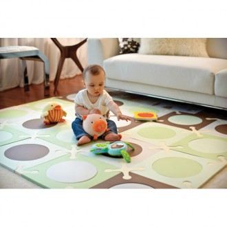 Playspot alfombra puzzle green brown