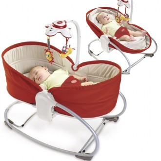 Hamaca 3 en 1 Rocker Napper color rojo