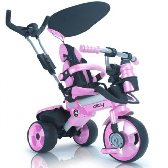 Triciclo evolutivo city rosa