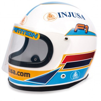 Casco integral blue racing