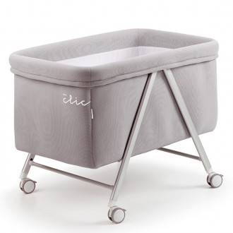Minicuna baby clic color gris