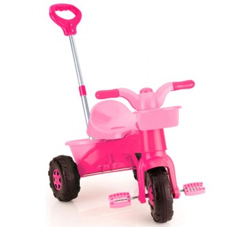 Triciclo my first trike parent con mango regulable rosa